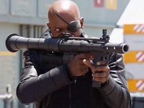 "Samuel L. Jackson in ""The Avengers"""