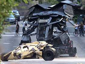 "On the set of ""Dark Knight Rises"" in Pittsburgh"