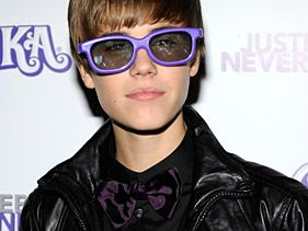 "Justin Bieber at the New York premiere of ""Never Say Never"""