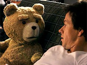 "Ted as voiced by Seth McFarlane and Mark Wahlberg in ""Ted"""