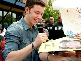 "Scotty McCreery visits his hometown for ""American Idol"" on May 14, 2011 in Garner, North Carolina"