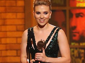 Scarlett Johansson at the Tony Awards Sunday