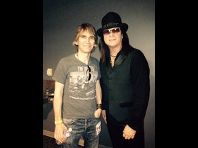 My friend Chuck Wright (from House of Lords and Quiet Riot) and I
