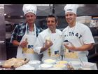 Pauly D, Chef John Delucie and Vinny make macaroni & cheese on Saturday