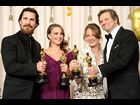 Christian Bale, Natalie Portman, Melissa Leo and Colin Firth pose with their Academy Awards