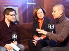 MTV's Joshua Horowitz with Sigourney Weaver and Rodrigo Cortez