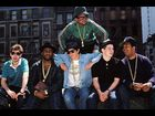 MCA, the Beastie Boys and Run-DMC in New York in 1987